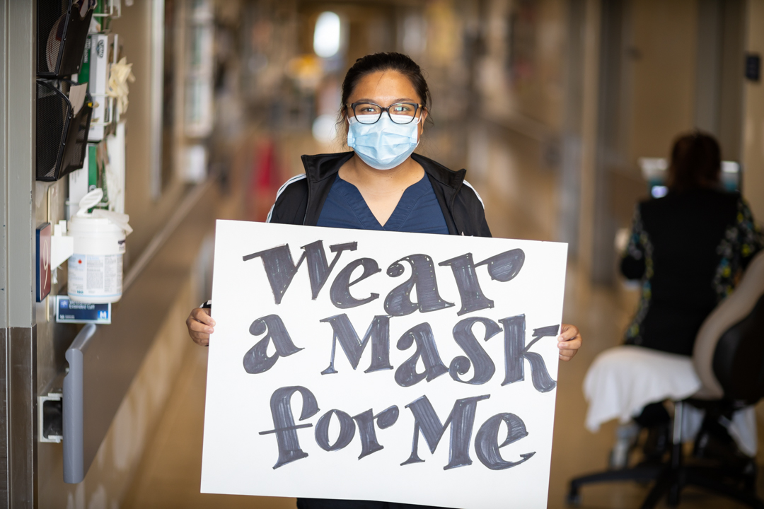 Wear A Mask For Me campaign 2